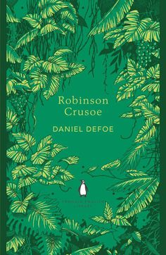 Cover for Robinson Crusoe by Daniel Defoe :: Penguin Books #defoe #print #books #robinson #cover #illustration #penguin #crusoe