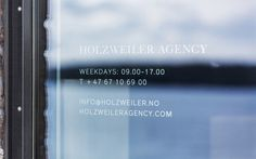 Logo and window decal designed by Bielke+Yang for contemporary fashion distributor Holzweiler