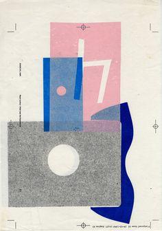 Karel Martens Untitled, circa 1992 letterpress monoprint on photocopy 8 ¼ x 11 ⅝ in. (209 x 295 mm) #illustration #art #prints