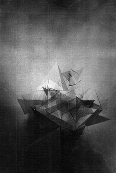 Alchemy (+Moving Image) Alice Critchley #shapes #alchemy #alicecritchley #triangle #art #work