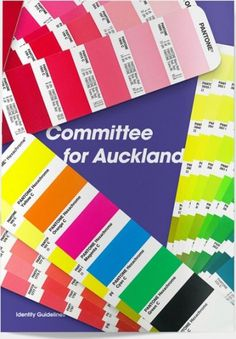 Committee for Auckland Brand Identity by Everything Design; a Branding & Graphic Design Company Auckland New Zealand. Everything Design. #branding #guide #guidelines #book #brand #identity #standards #style