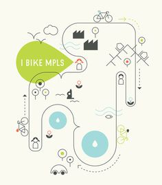 Bike MPLS #bicycle #tear #illustration #drop #minneapolis #monostroke