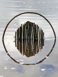 CJWHO ™ (Landart by Ludovic Fesson Using the water...) #art #sculpture #installation #reflection #water #clever #landart