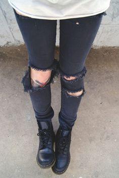 Likes | Tumblr #black #jeans