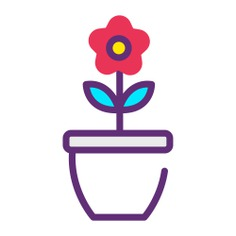 See more icon inspiration related to flower, pot, plant pot, farming and gardening, botanical, valentines day, garden, blossom, rose, wedding, flowers, petals and nature on Flaticon.