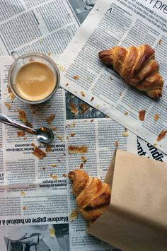 The Wandering Girl: Everything Everything, you know all about the growing #paris #newspaper #food #photography #croissant