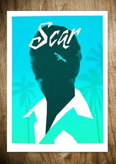 SCAR (VARIANT) - Rocco Malatesta Posters & Prints #movie #malatesta #graphic #rocco #illustration #poster #scarface