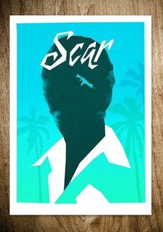 SCAR (VARIANT) - Rocco Malatesta Posters & Prints #movie #malatesta #graphic #rocco #illustration #poster #scarface