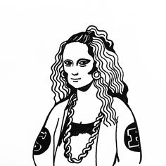 Mona Lisa Ratchet by Kim Michey #tattoo #monalisa #swag #kimmichey
