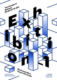 #Poster #Weimar #Exhibition #Cubes