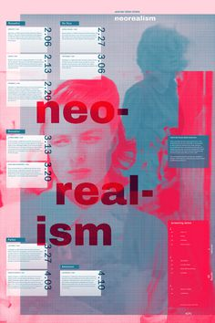 reorealism poster typography