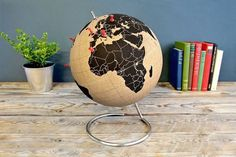 Suck UK Cork Globe Map of The World #tech #flow #gadget #gift #ideas #cool