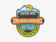 Dribbble Over50s #logo #snowboarding #mountain