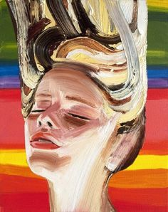 Falling - Erik Olson #painting #colour #girl