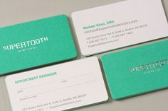 Supertooth Dentistry on Branding Served #business #card #branding #stationery