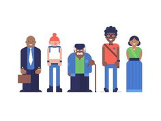 South African Characters by Makers Company #character #characterdesign #people #human