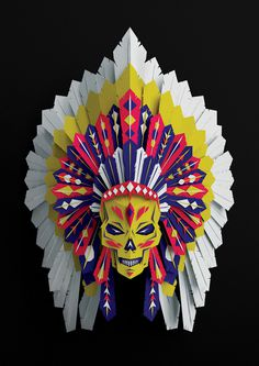 Native American Headdress on Behance #american #natives #chief #3d #native