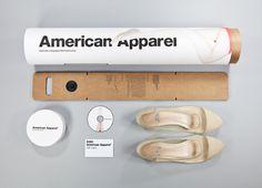 American Apparel Sustainable Shoe packaging #packaging #design