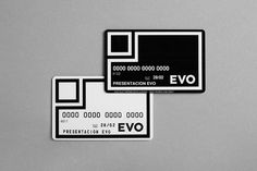 Evo – back to basics Saffron Brand Consultants #card #cards #credit #stationery