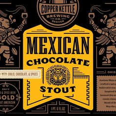 Mexican Chocolate Stout #beer #illustration #design #typography