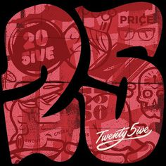 25 years of Agideas #numbers #typography #custom #25