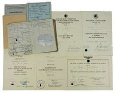 Certificate of probate of the staff of the II./ artillery-Regiment 129 corporal.
