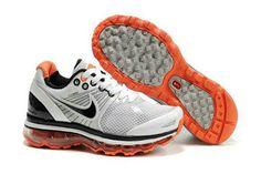 Mens Air Max 2009 White Black Orange Shoes #shoes