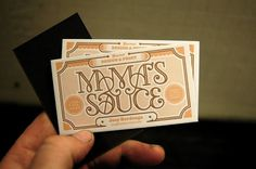 Mama's Sauce Cards #card #print #design #business