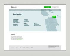 Tickr App and Homepage 2012 on Behance #layout #design #web #map