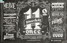 Trimarchi DG 2012 #blackboard #handrawn #illustrative #chalk #type