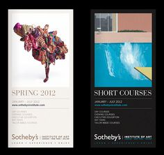 Sotheby's short courses brochures by Ascend Studio #design #ascend #education #art #brochure