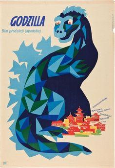 Polish Godzilla movie posters turn kaiju into high art #godzilla #poland #art #poster