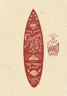 Surfboard typography #surfing #handwritten #typography