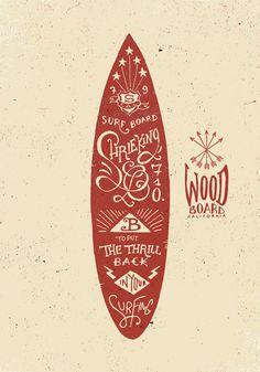 Surfboard typography