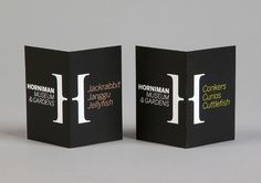 hat-trick design: horniman museum and gardens identity #print #identity