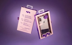 Momo Smartphone Case Packaging Inspired by the 1970s