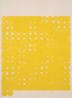 Tauba Auerbach, Morse Alphabet, No Spaces, Yellow, 2005 #bars #yellow #chart #circles