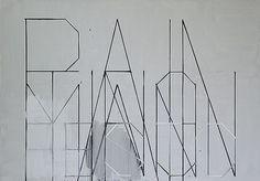 Christian Vetter - SPRACHE #letters #white #black #vetter #painting #and #christian #typography