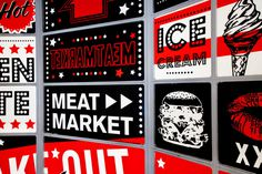 GRAPHIC AMBIENT » Blog Archive » Meat Market, UK #graphics #wall