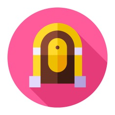 See more icon inspiration related to music and multimedia, jukebox, music player, antique, furniture, elegant and music on Flaticon.