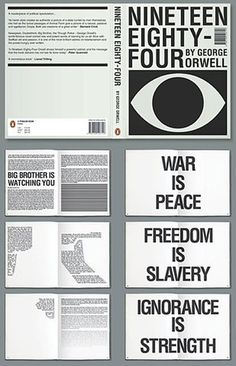 FFFFOUND! | GraphicHug™ - Everybody Needs a Hug - Part 3 #brother #george #design #big #book #1984 #orwell