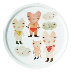 Donna Wilson Carnival Bears Tray #animals #plate