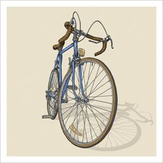 Bicycle Illustration Trilogy - 01 - Road by Studio Epitaph http://www.studioepitaph.com/work#/bicycle-illustrations/