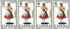 Sello de 6 pesetas de Huertana.jpg (650×271) #murcia