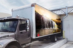 Realistic Box Truck Mockup