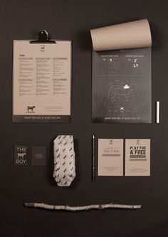 THE COW BOY IDENTITY Designed by London based graphic designer Livia Ritthaler. #catering