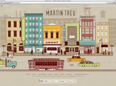 Martin Treu Website See Scotty Design & Illustration #city #illustration