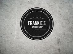 FRANKIES+FRO+BLOG.jpg (876×657) #circle #frankies #white #barber #shop #design #graphic #black #edd #logo