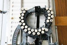 RARE Keaton Music Typewriter by jacksredbarn on Etsy #music #type #metal #machine