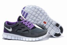 Nike Free Run 2 Size 12 Grey Purple White Mens Shoe #shoes